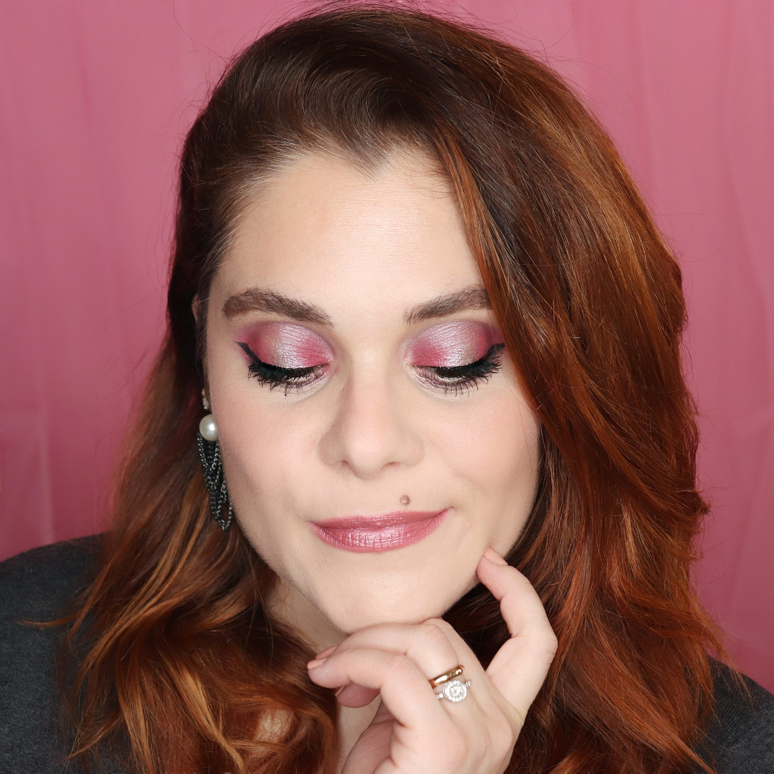 makeup tutorial cosmetici naturali defa cosmetics sadalein halo smokey eyes pink